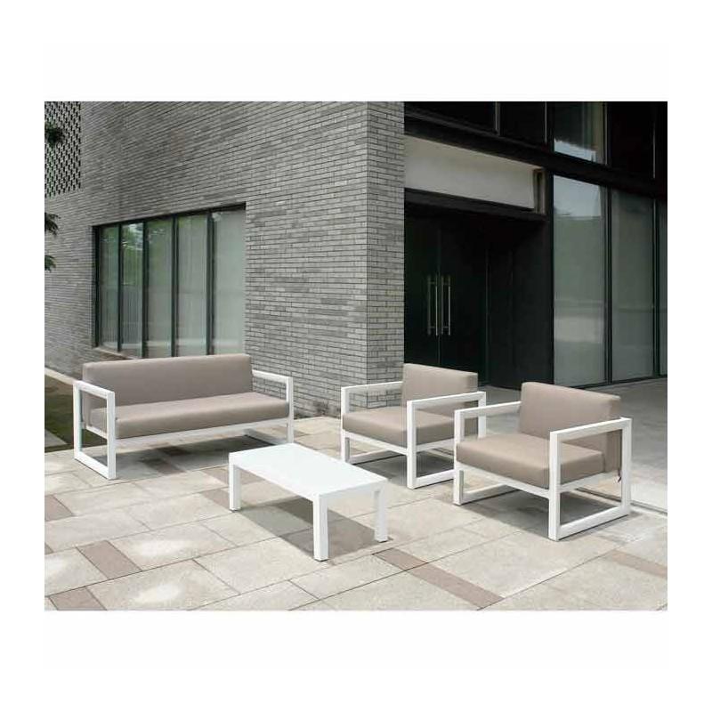 Conjunto para exterior aluminio erie for Muebles jardin aluminio