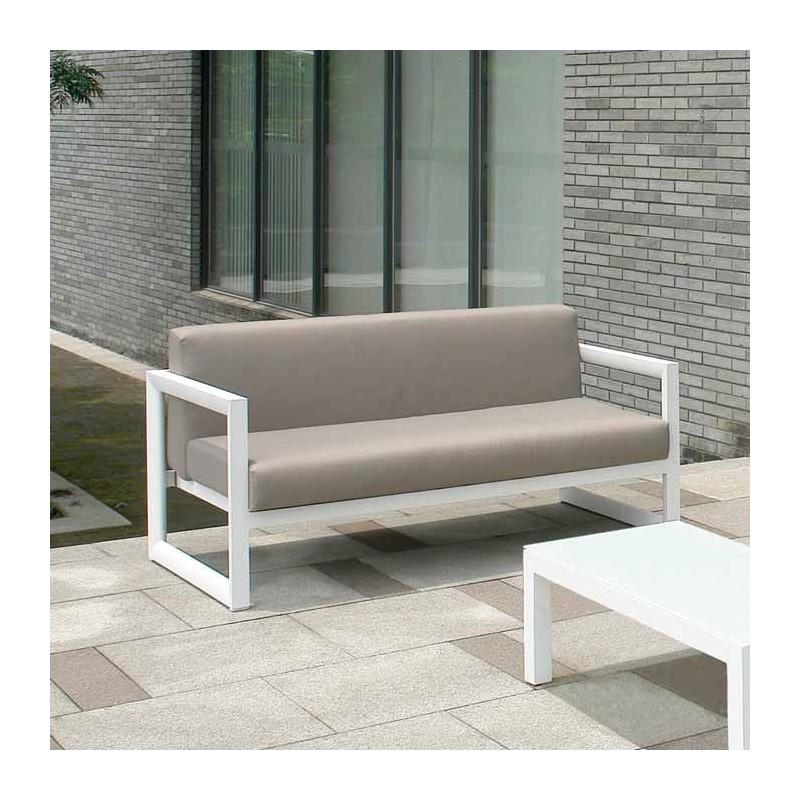 Sofa aluminio exterior materiales de construcci n para for Sofa exterior aluminio blanco