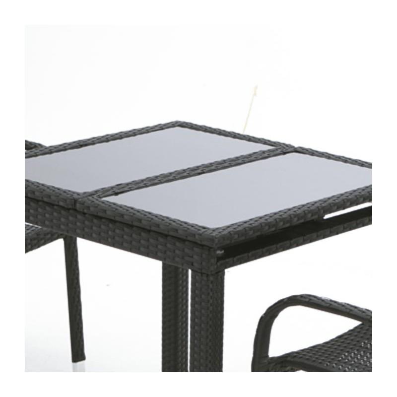 mesa extensible fibra para exterior dayton