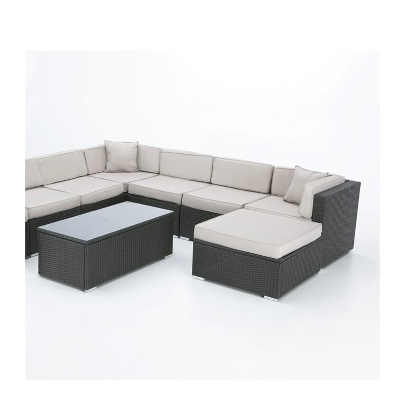 Conjunto sof modular exterior alabama for Sofa modular jardin