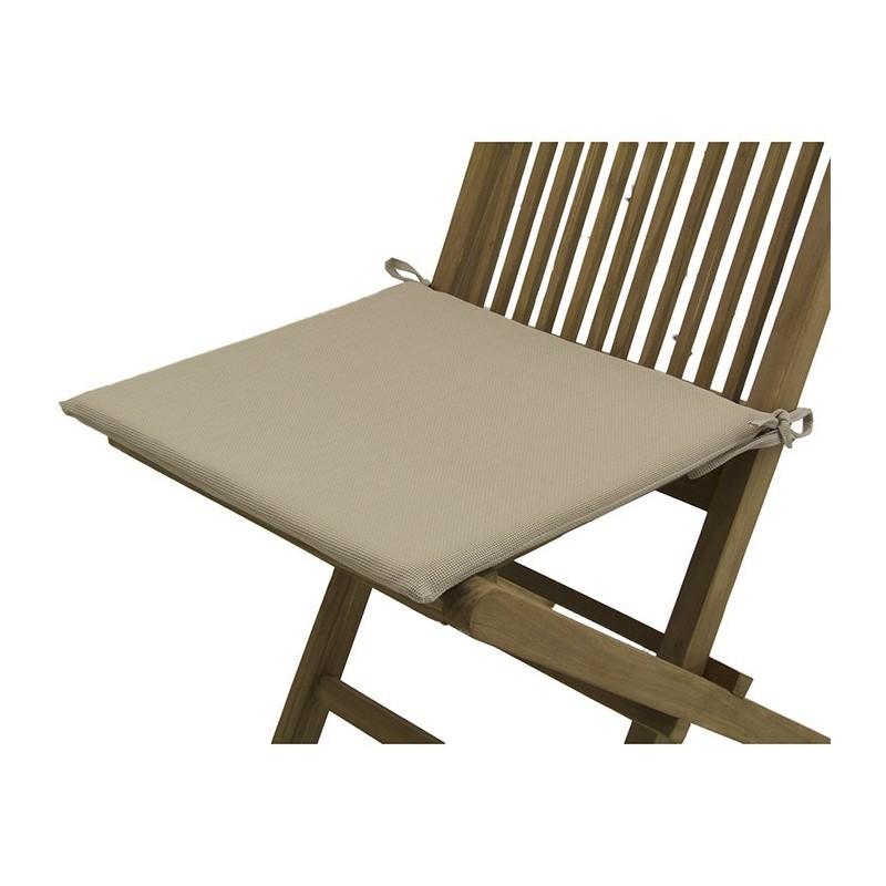 Cojin silla teca de jardin textilene arena pack 2 unidades for Cojines sillas jardin