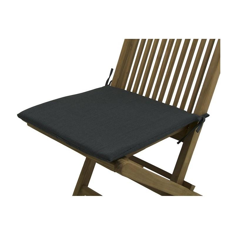 Cojin para silla teca de jardin lux antracita pack 6 for Cojin para sillas