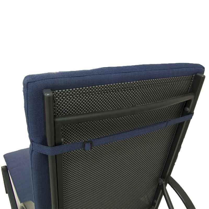 Cojin tumbona de jardin lux azul pack 4 unidades for Oferta tumbonas jardin
