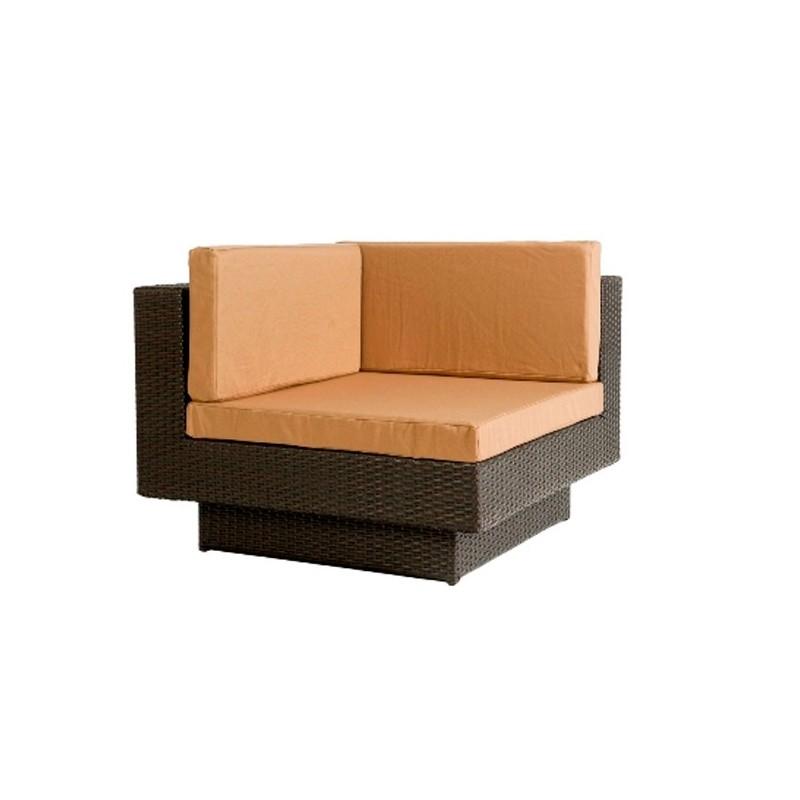 Sofa esquina para jardin fibra klee for Sofa exterior esquina