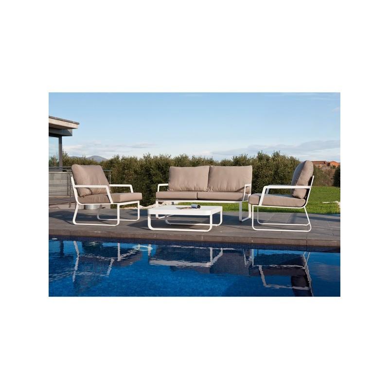 Conjunto sofas exterior aluminio verona - Conjunto exterior jardin ...