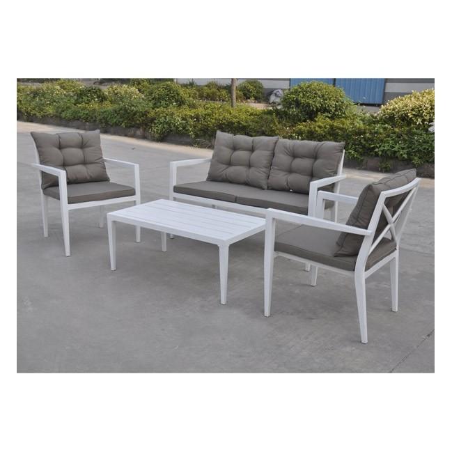 Conjunto sofas de jardin de aluminio saratoga for Conjunto de resina para jardin