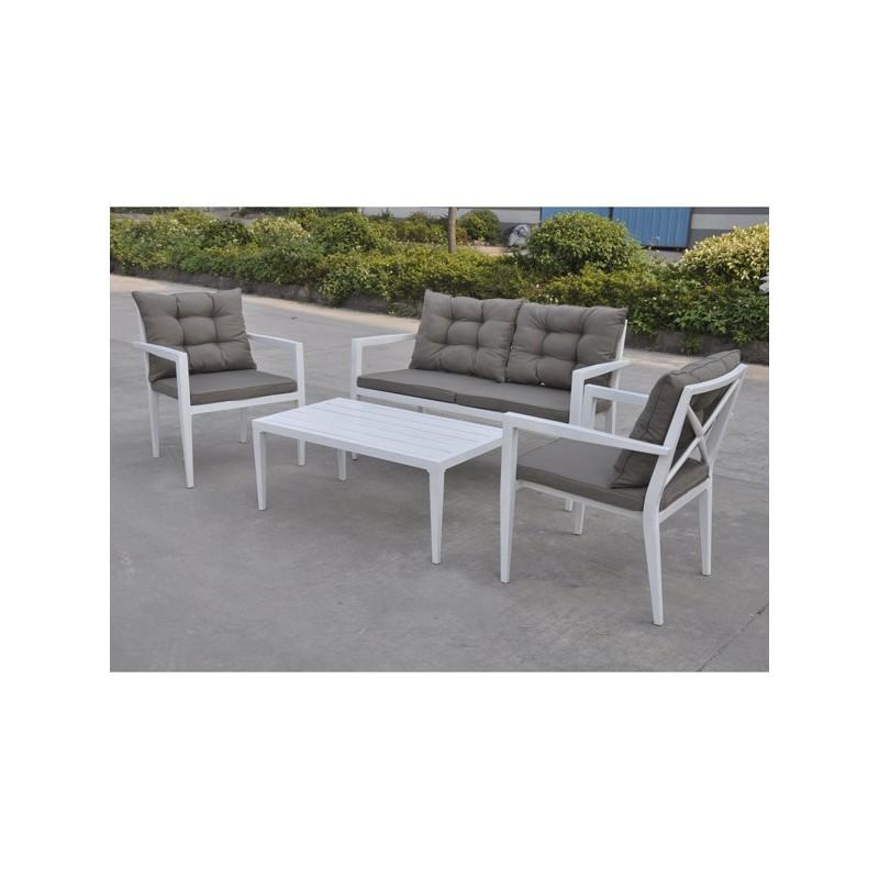 Conjunto sofas de jardin de aluminio Saratoga