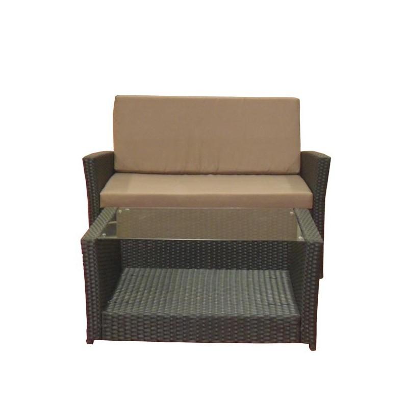 Conjunto sofas de exterior charlotte for Conjunto de sofas para exterior