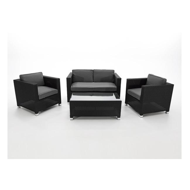 conjunto sofas para terraza fibra negro peoria