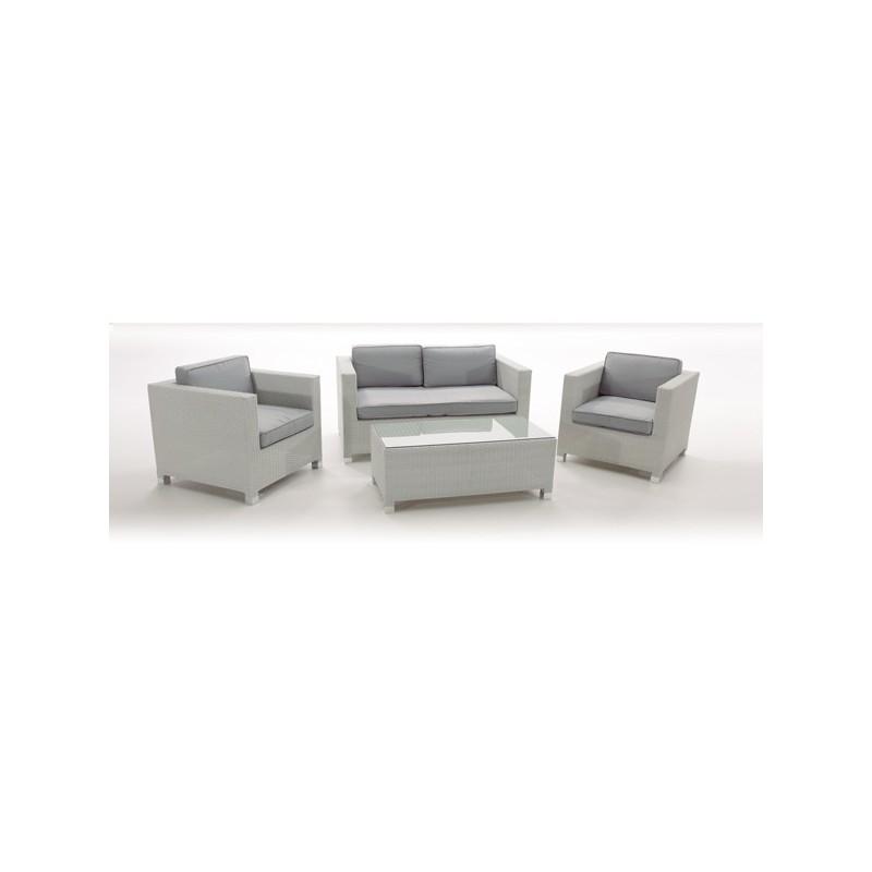 Sofa Para Jardin Fibra 2 Plazas San Luis