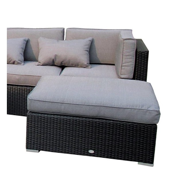 Puf de exterior fibra tampa for Sofa exterior rattan sintetico