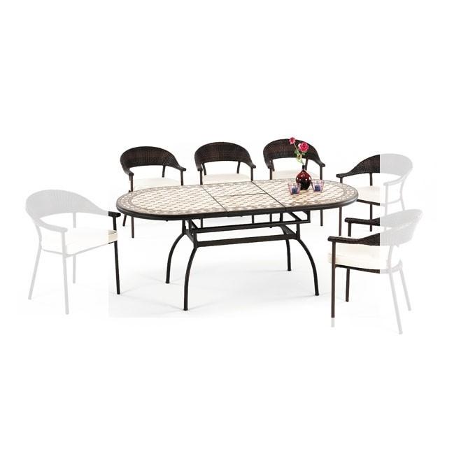 Mesa de aluminio de exterior tienda online de mobiliario for Mobiliario jardin outlet