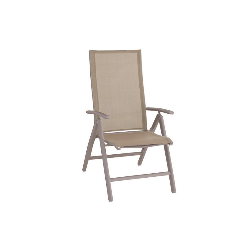 Sillon reclinable de terraza y beige york for Muebles jardin aluminio