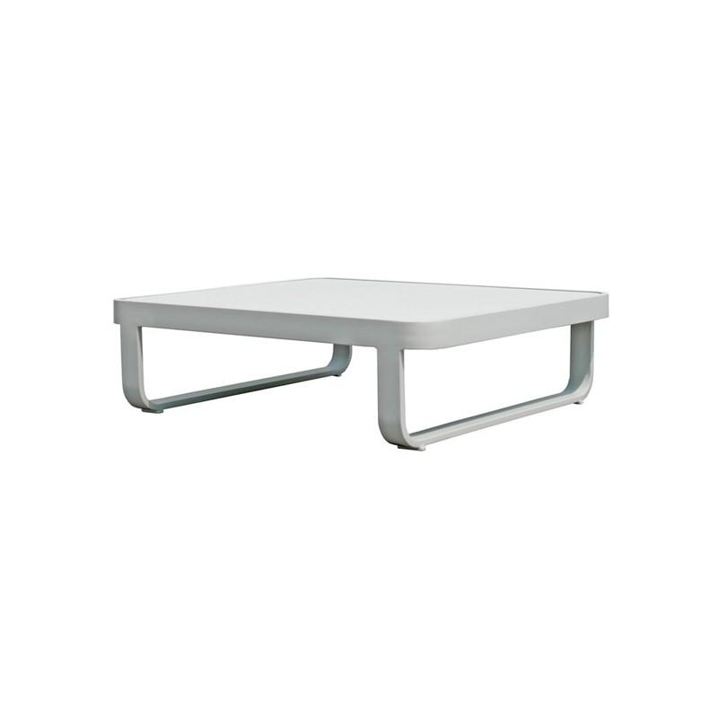 Mesa centro de terraza verona for Muebles exterior aluminio blanco