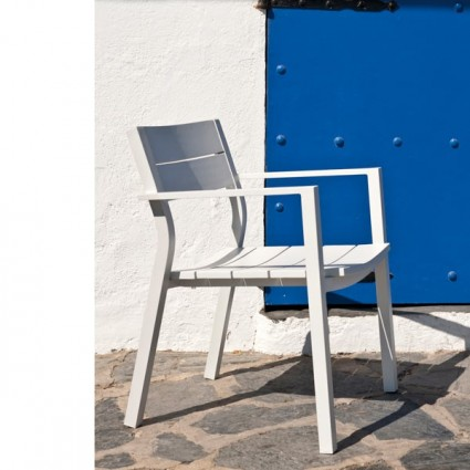 Outlet en muebles de jardin online oferta en mobiliario for Muebles exterior aluminio blanco