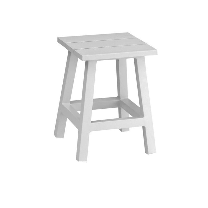 Mesa auxiliar terraza messina for Muebles exterior aluminio blanco
