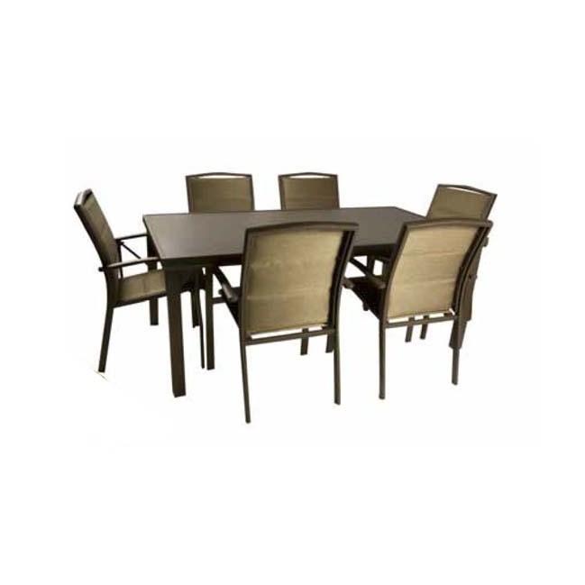 Mesa de aluminio de exterior outlet en mobiliario de for Muebles jardin aluminio