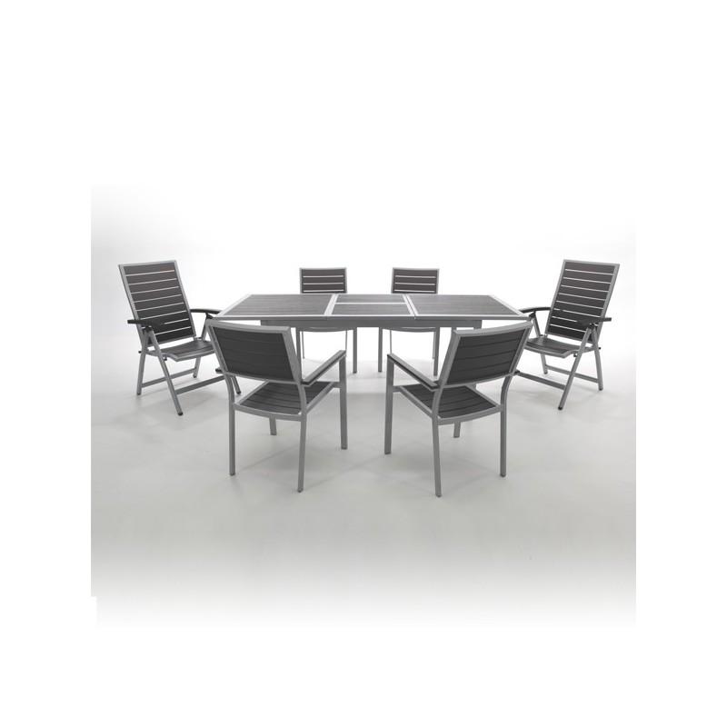 Ontradicciones de la mujer mesa y sillas resina 150 for Muebles jardin resina