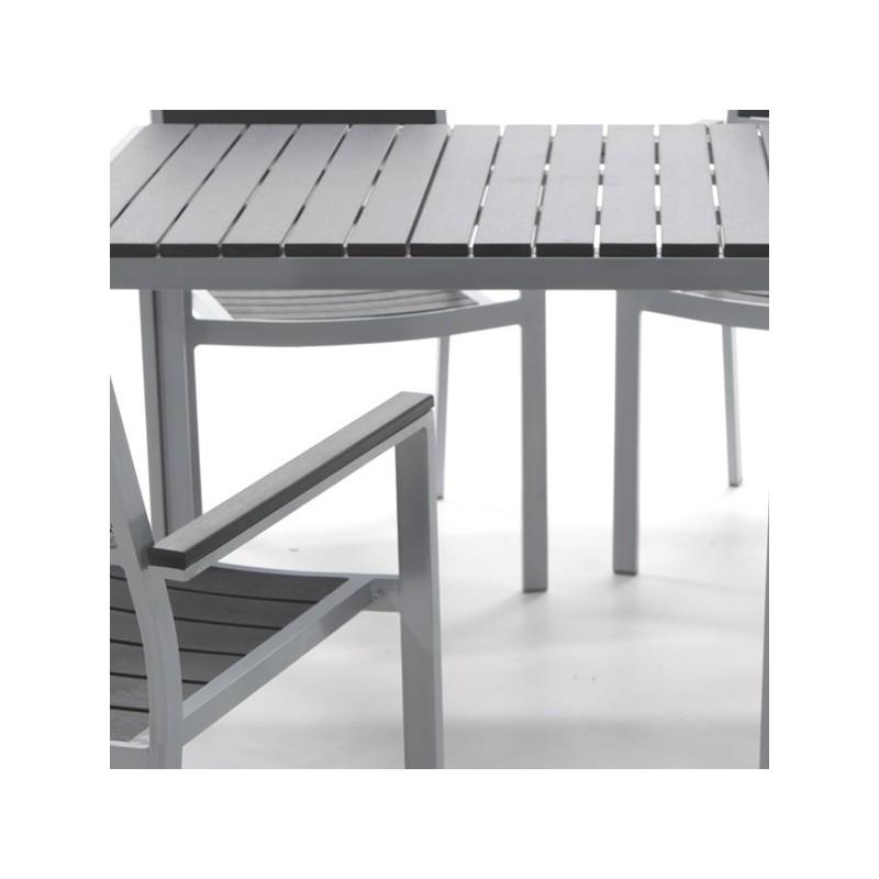 Mesa de exterior y resina imitacion madera washington - Mesa de madera exterior ...