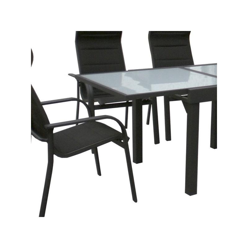 Conjunto mesa y 4 sillones para exterior ergo for Conjunto sillones exterior
