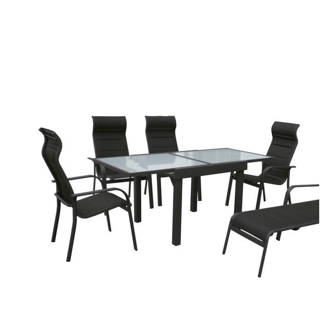 Mesa para exterior extensible 90 180 for Muebles jardin aluminio