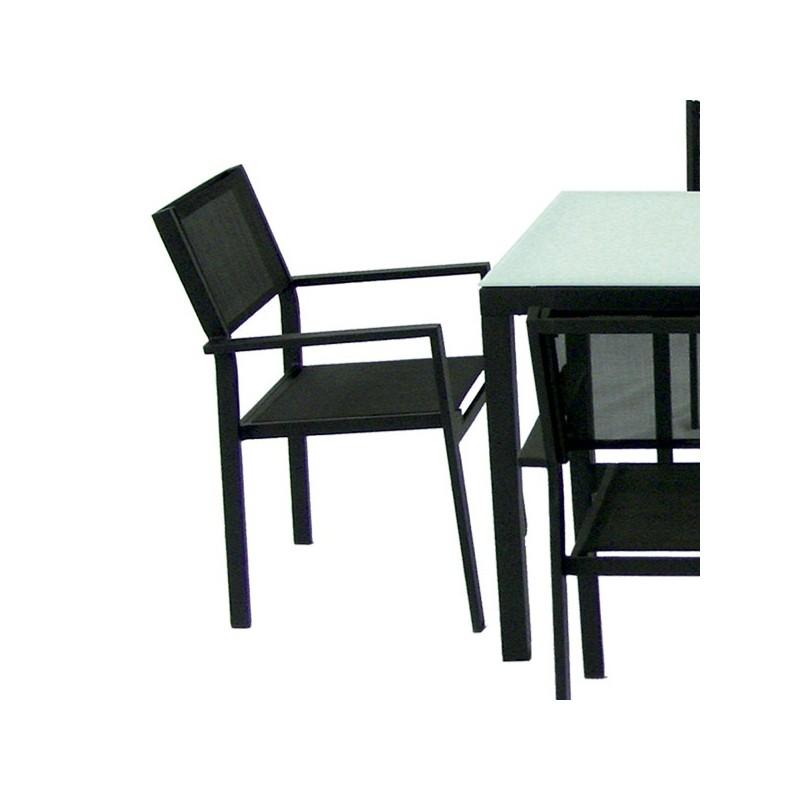 Conjunto mesa y 6 sillones para exterior for Conjunto sillones exterior