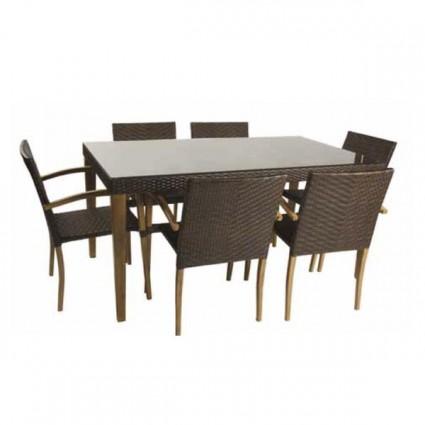 Venta online de mobiliario de exterior outlet en muebles for Conjunto jardin madera