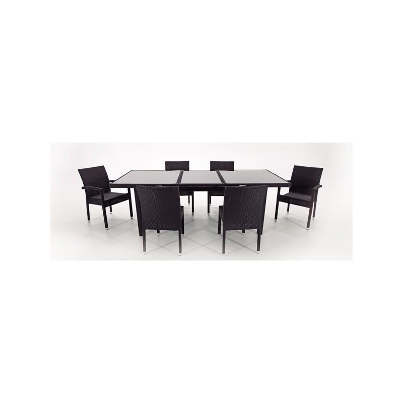 Mesa en aluminio de exterior online oferta de mesas de for Conjunto muebles terraza jardin