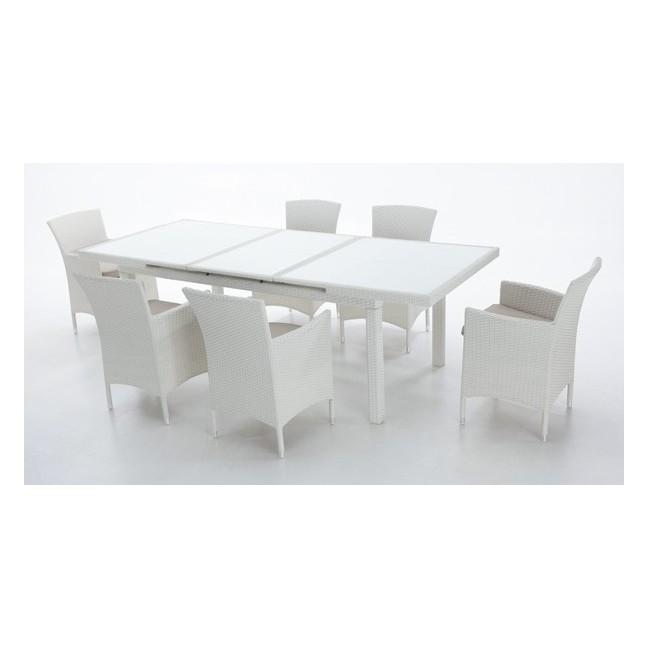 Mesa en aluminio de exterior online oferta de mesas de for Muebles terraza outlet