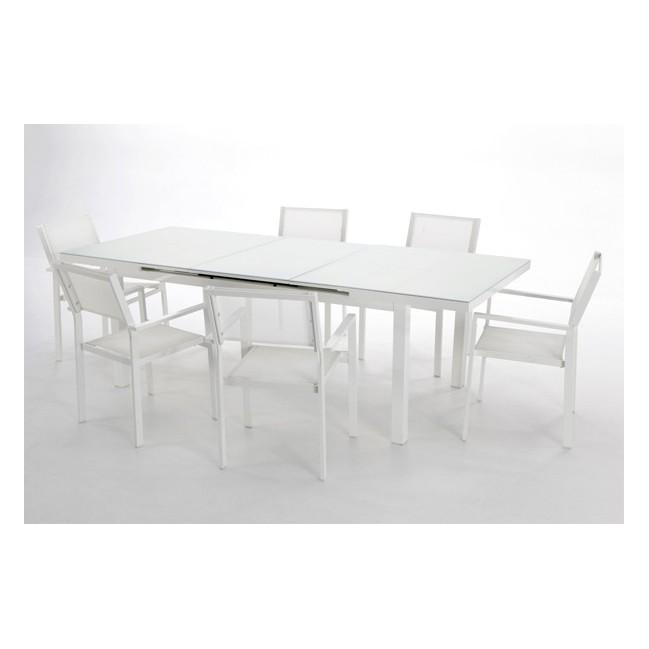 Conjunto mesa y 6 sillones para exterior cheyenne for Conjunto sillones exterior