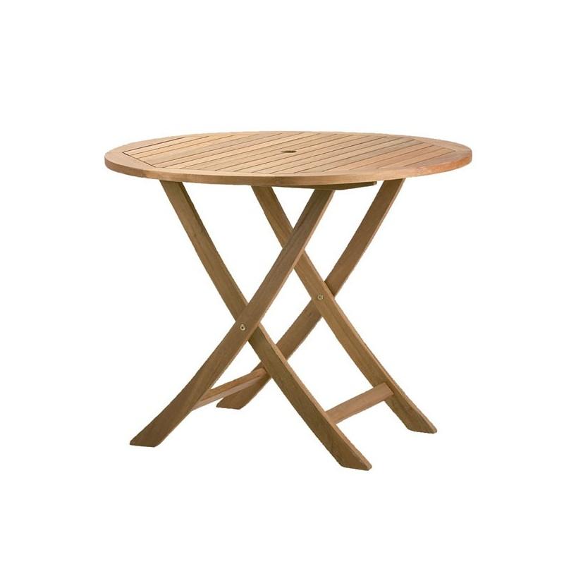 Mesa para jard n de madera tropical 90 texas - Mesas de madera de jardin ...