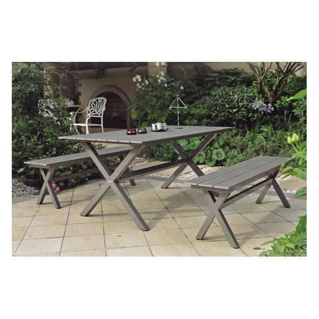 Conjunto mesa y 2 bancos camping exterior - Conjunto mesa y sillas exterior ...
