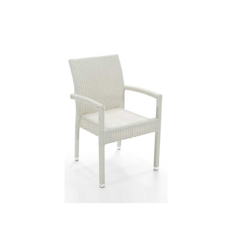 Sillon para terraza blanco santa ana for Outlet muebles jardin