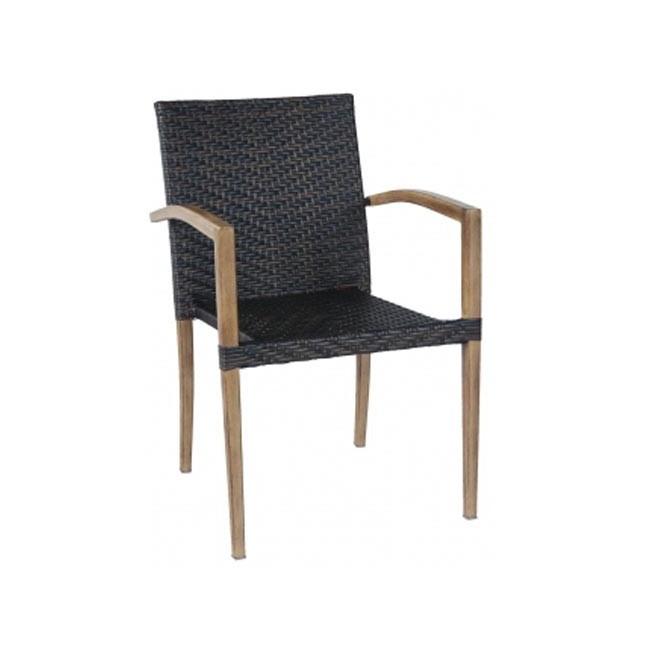 Sillon para terraza aluminio imitaci n madera oklahoma for Outlet muebles exterior