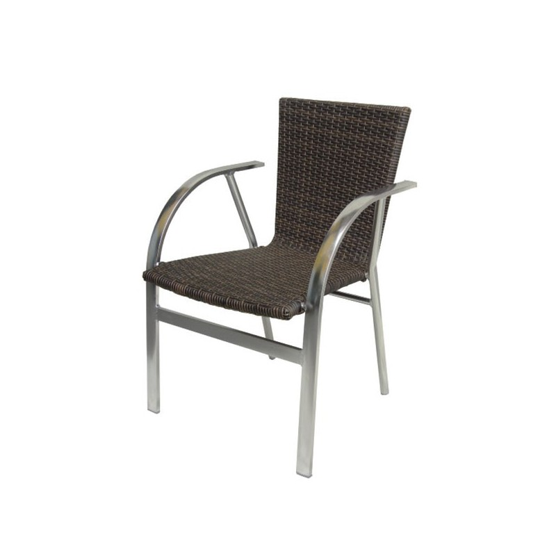 Sillon de exterior chocolate alaska for Outlet muebles jardin