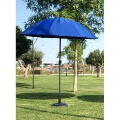 Parasol azul para exterior redondo