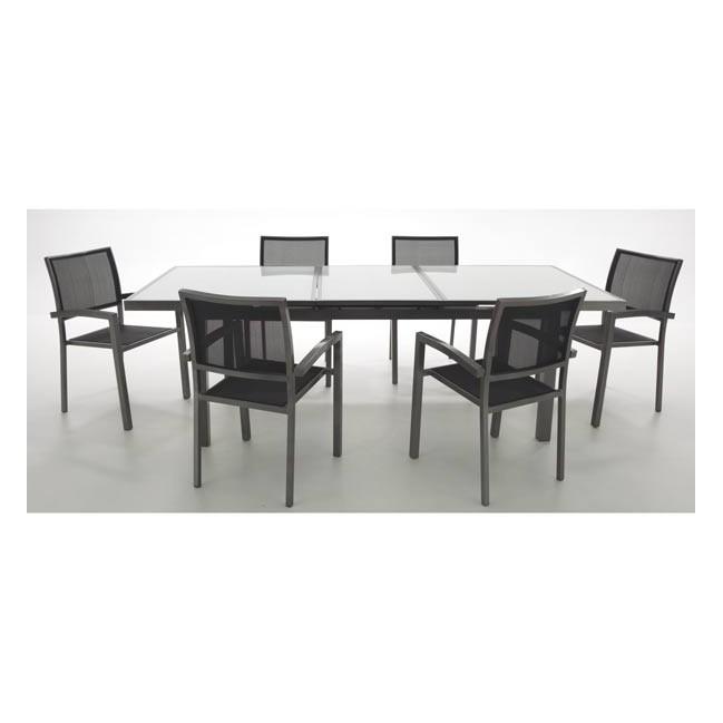 Conjunto mesa y 6 sillones para exterior riverside for Conjunto sillones exterior
