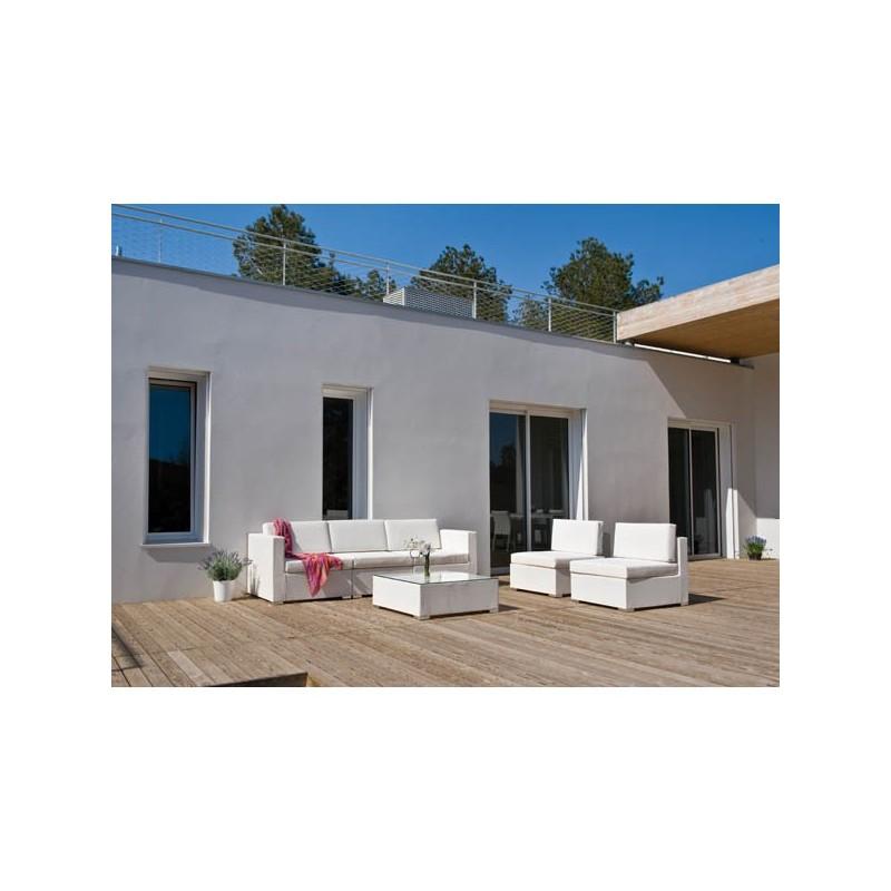 Conjunto sofa modular y mesa centro siena for Conjuntos de jardin ikea