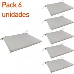Cojín silla teca de jardín Lux arena - Pack 6 unidades