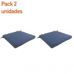 Cojín para jardín lux azul - Pack 2 unidades