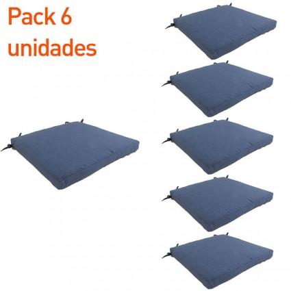 Cojín para jardín lux azul - Pack 6 unidades