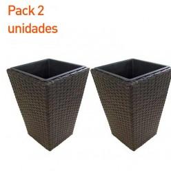 Maceta de jardín marrón 40 cm - Pack 2 unidades