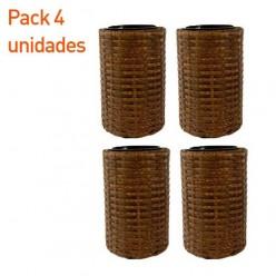 Pack 4 maceteros redondo de exterior 25 cm