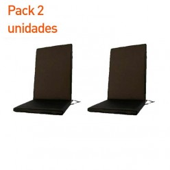 Cojín posiciones fast dry para exterior negro - Pack 2 unidades