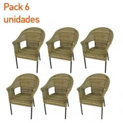 Pack 6 sillones para jardín Boden