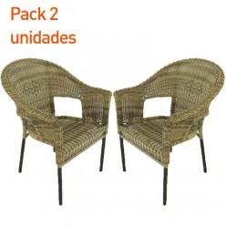 Pack 2 sillones de exterior Boden