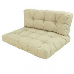 Cojines para palets asiento y respaldo crema
