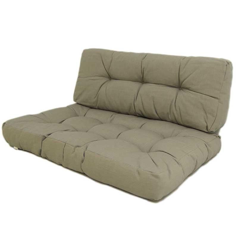 Cojines para palets asiento y respaldo lux capuccino - Cojines para muebles de jardin ...