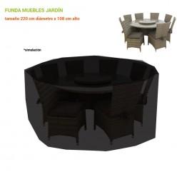 Funda para conjunto mesa y sillas de jardín