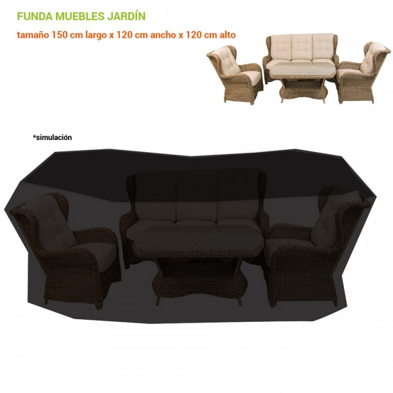 Funda impermeable para sofas de jardin for Fundas protectoras para muebles de jardin